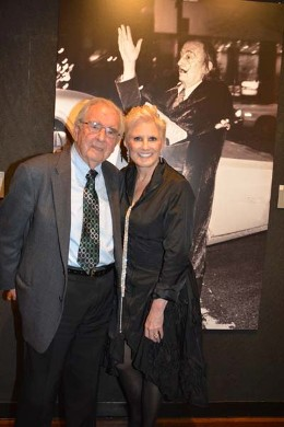 Alex Rosenberg and Dianne Bernhard at the opening of Dali: The Golden Years at The National Arts Club, February 2015.